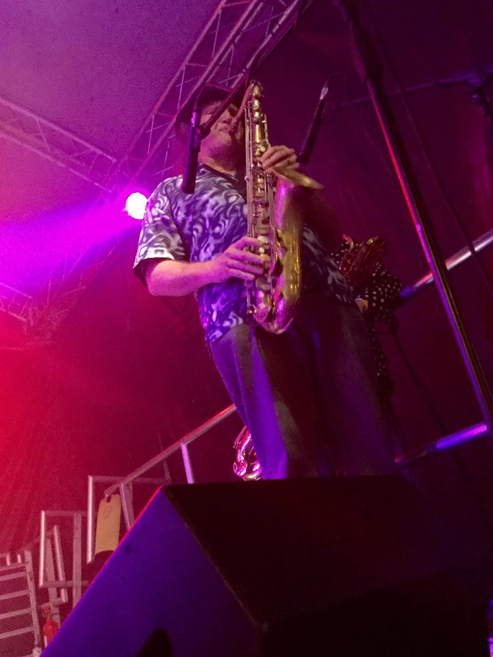 Playing with Josh Hopkins and friends at the Monmouth Festival